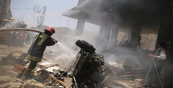 Şam'da 3 bombalı saldırı: 45 ölü