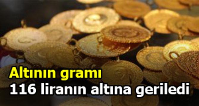 Altının gramı 116 liranın altına geriledi