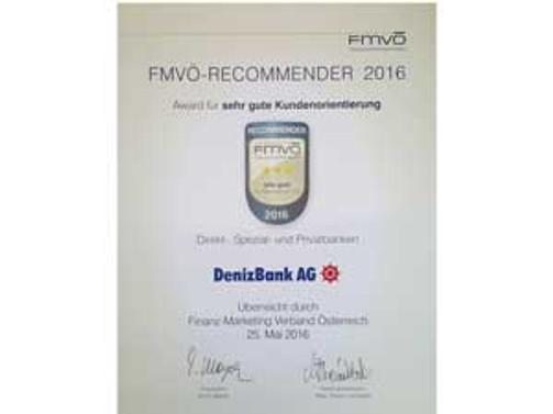 DenizBank AG'ye üst üste ikinci ödül