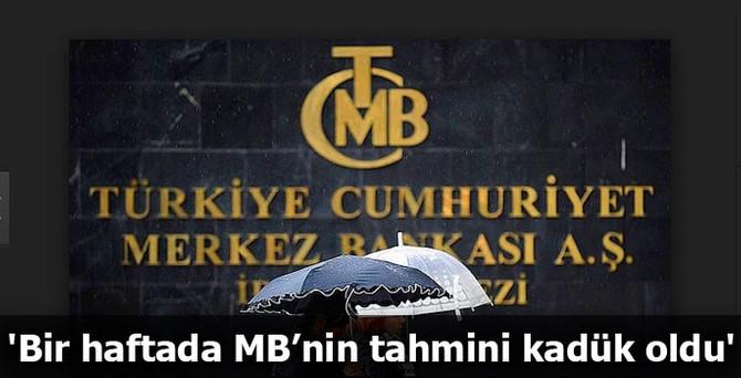 'Bir haftada MB'nin tahmini kadük oldu'