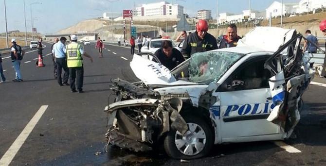 Osmangazi Köprüsü'nde kaza: 1 polis şehit