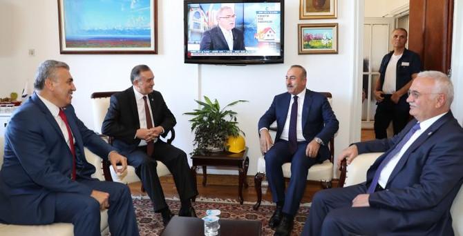 Çavuşoğlu MHP'yi ziyaret etti