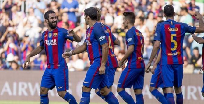 Barcelona lige 6 golle başladı