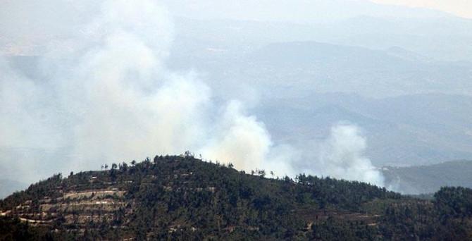 Suriye'deki yangın Hatay sınırına sıçradı