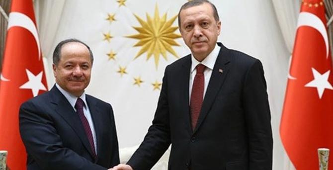 Barzani Erdoğan ile görüştü