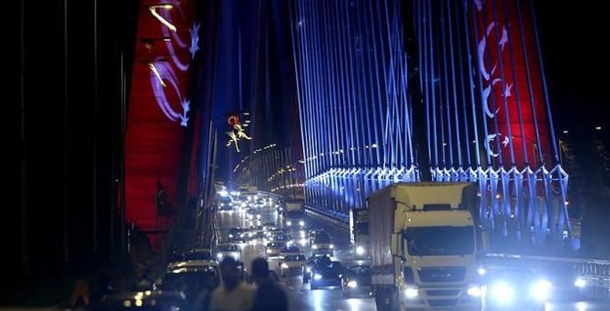 Yavuz Sultan Selim Köprüsü'nde selfie trafiği