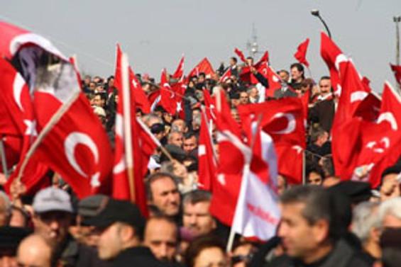 Başkent'te 'hayır' mitingi