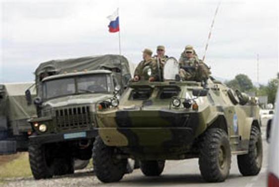 2 uçağı düşürülen Rusya'nın tankları Osetya'da