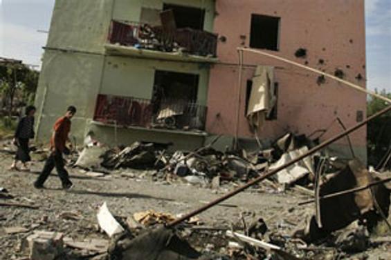 Rus jetleri, Gori kentini bombaladı