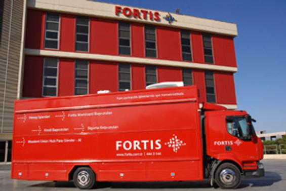 Fortis'ten TIR'la müşterinin ayağına hizmet