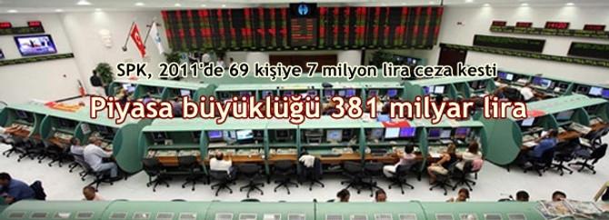 SPK, 2011'de 69 kişiye 7 milyon lira ceza kesti   Finans