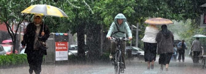 Yağışlı hava sürüyor