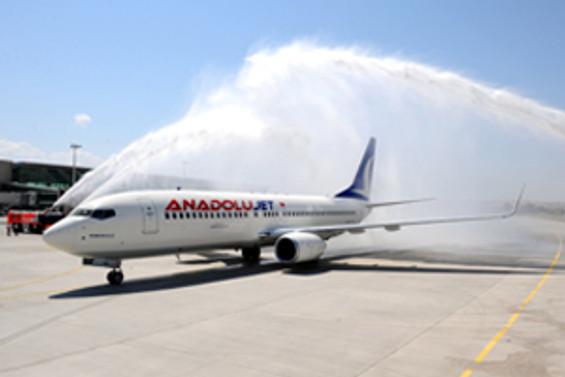 Anadolujet, Stockholm'den ilk uçuşunu yaptı