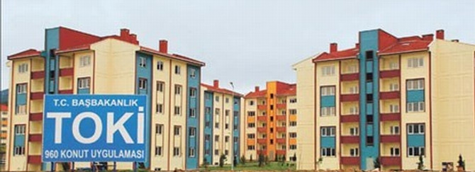 2012'de 44 bin konut inşa etti