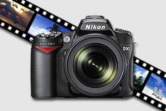 Nikon'un video çeken D90'ı vitrinde