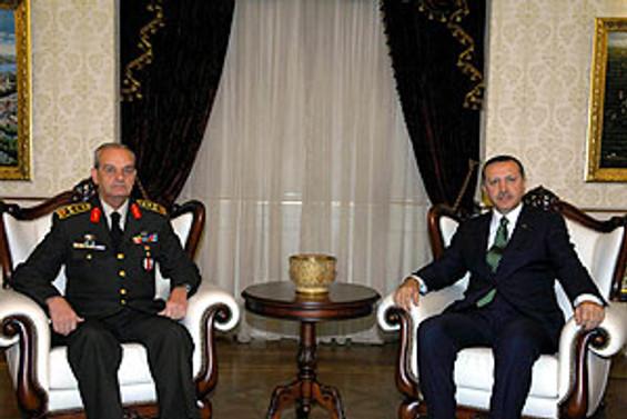 Erdoğan, Org. Başbuğ görüşmesi başladı