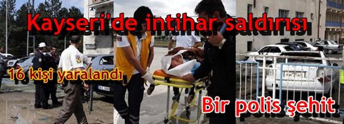 Kayseri'de Emniyet'e bombalı saldırı