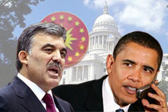 Gül ile Obama telefonda görüştü
