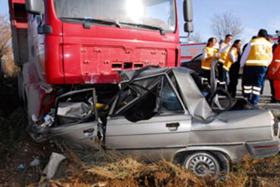 Trafik kazasında hazin son