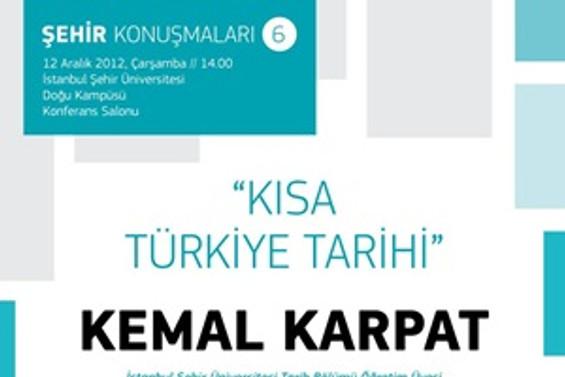 """Prof. Dr. Karpat'ın yeni kitabı """"Kısa Türkiye Tarihi"""""""