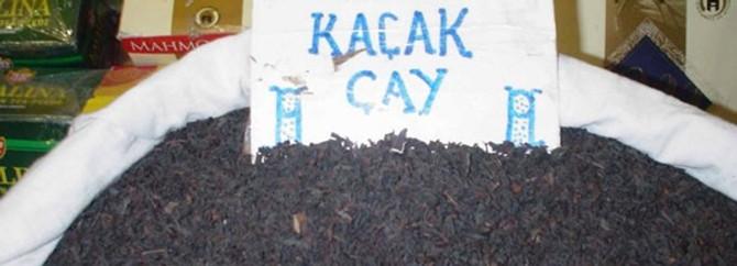 1.5 ton kaçak çay ele geçirildi