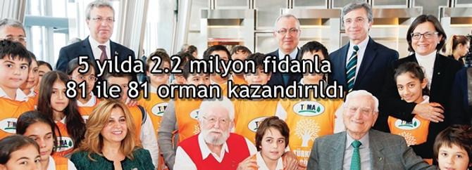 5 yılda 2.2 milyon fidanla 81 ile 81 orman kazandırıldı