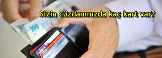 Sizin cüzdanınızda kaç tane kart var?