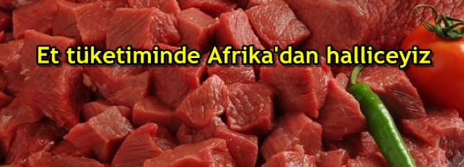 Et tüketiminde Afrika'dan halliceyiz