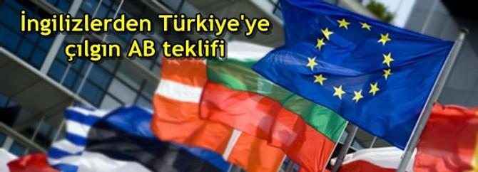 İngilizlerden Türkiye'ye çılgın AB teklifi