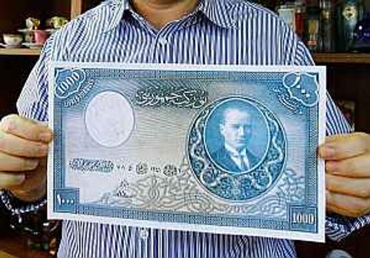 "Değeri 500 bin lira olan ""1000 TL'lik banknot"""