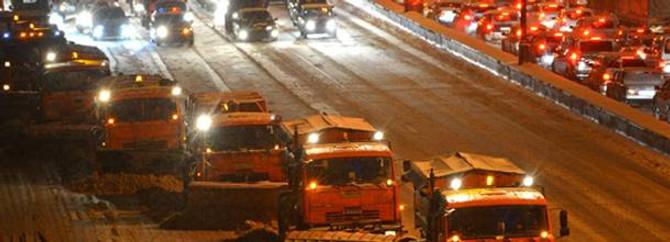 Moskova'da hayat durdu: 3 bin 500 km trafik