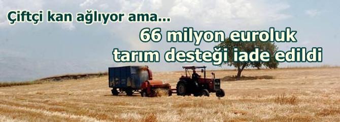 66 milyon euro elimizden kaçtı
