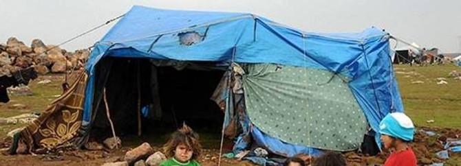 Bu çadırda çocuk olmak zor