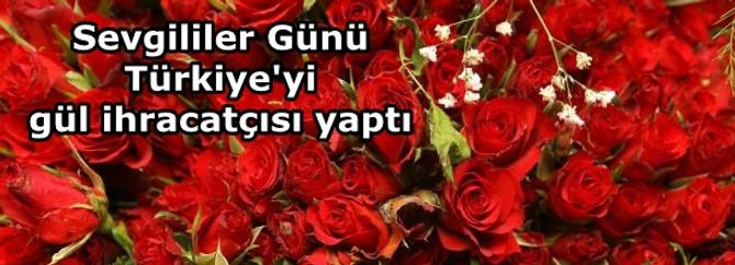 Sevgililer Günü, Türkiye'yi gül ihracatçısı yaptı