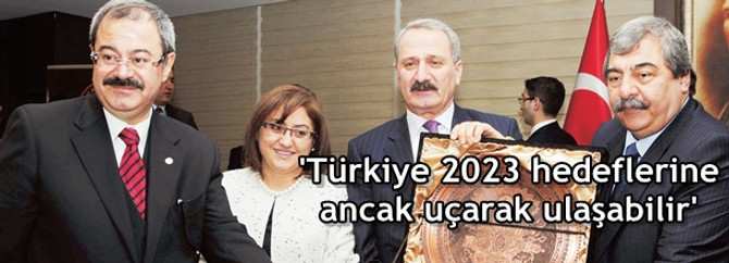 'Türkiye 2023 hedeflerine ancak uçarak ulaşabilir'