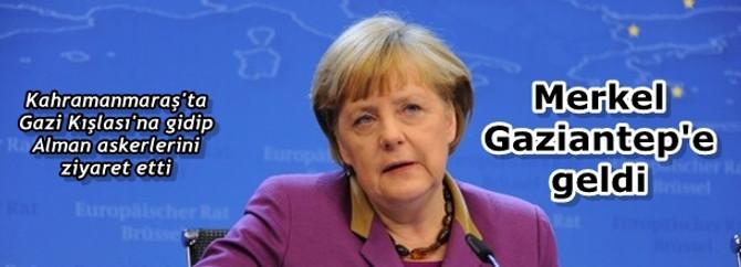 Merkel Gaziantep'e geldi