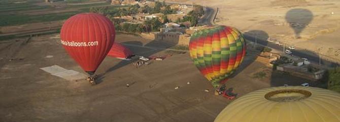 Sıcak hava balonu düştü