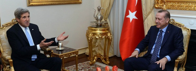 Erdoğan, Kerry'yi kabul etti