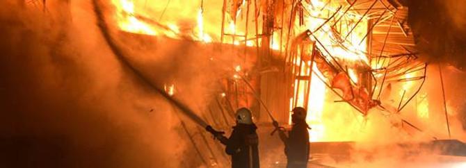 Almanya'da yangın
