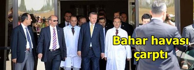 Erdoğan'ı bahar havası çarptı