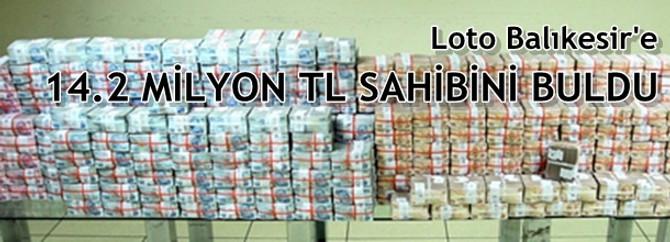 Süper Loto'dan Balıkersir'e 14.2 milyon TL