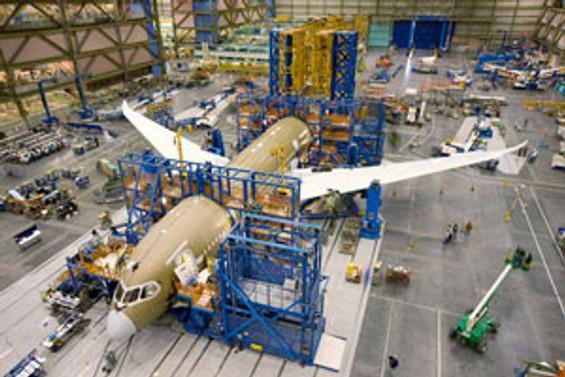 Boeing 787 Dreamliner'ın montajına başlandı