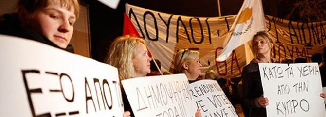 Lefkoşa'da AB karşıtı gösteri