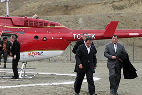 Yazıcıoğlu'nu taşıyan helikopter düştü
