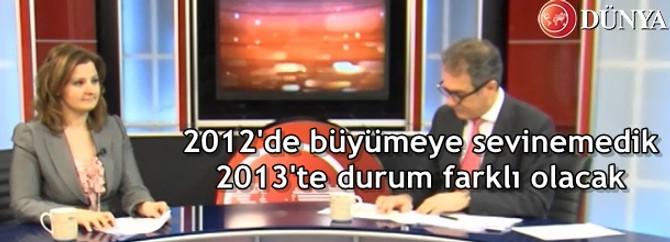 2012'de büyümeye sevinemedik 2013'te durum farklı olacak