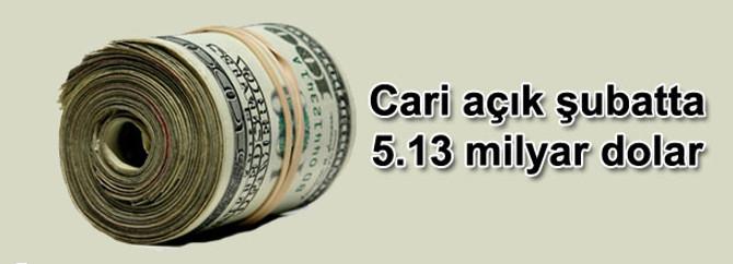 Cari açık şubatta 5.13 milyar dolar