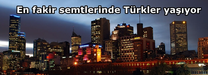 En fakir semtlerde Türkler var