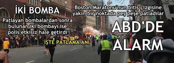 Boston'da iki bomba