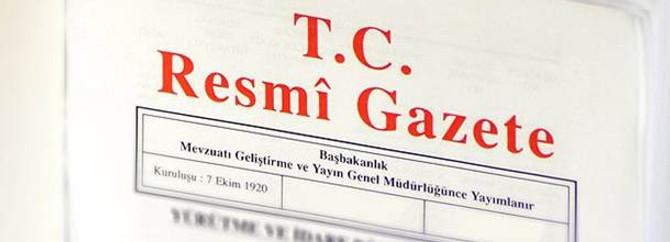 Resmî Gazete'de bugün