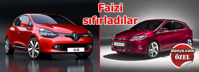 Ford ve Renault faizi sıfırladı